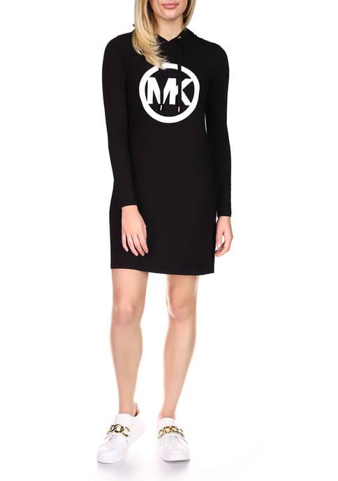 MICHAEL Michael Kors Womens Long Sleeve Logo Hoodie