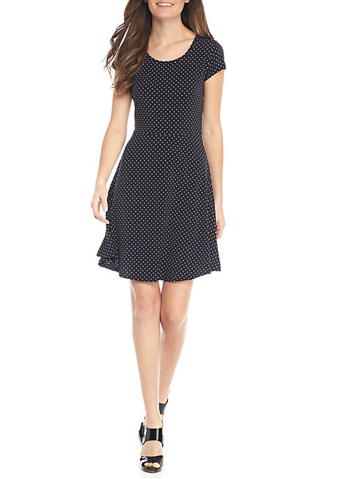 MICHAEL Michael Kors Fit & Flare Dot Dress