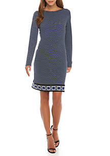 Replin Border Print Dress