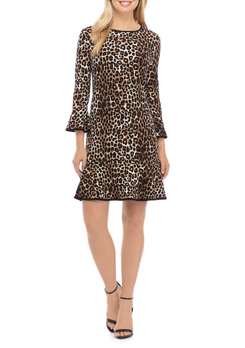 MICHAEL Michael Kors Womens Cheetah Flounce Dress