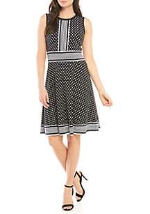 MICHAEL Michael Kors A Line Dotted Dress