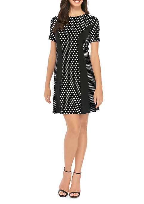 MICHAEL Michael Kors Womens Short Sleeve Mix Dot