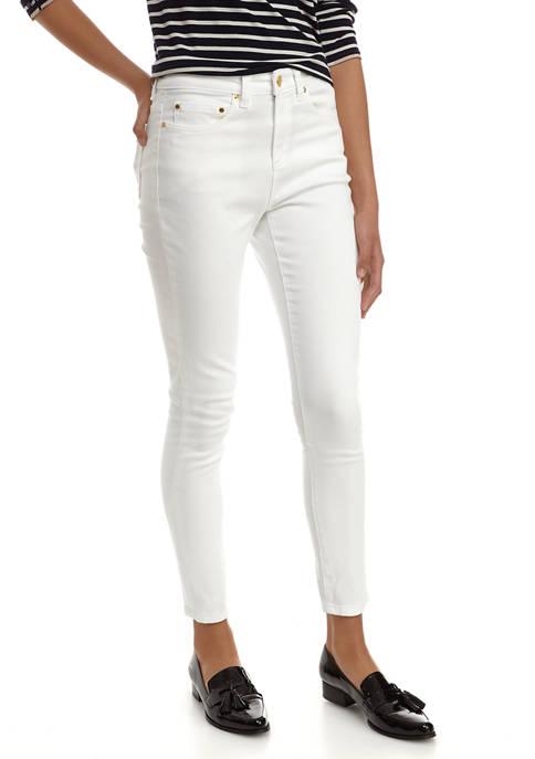 MICHAEL Michael Kors Womens High Waist Skinny Jeans