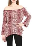 Womens Cheetah Print Handkerchief Top