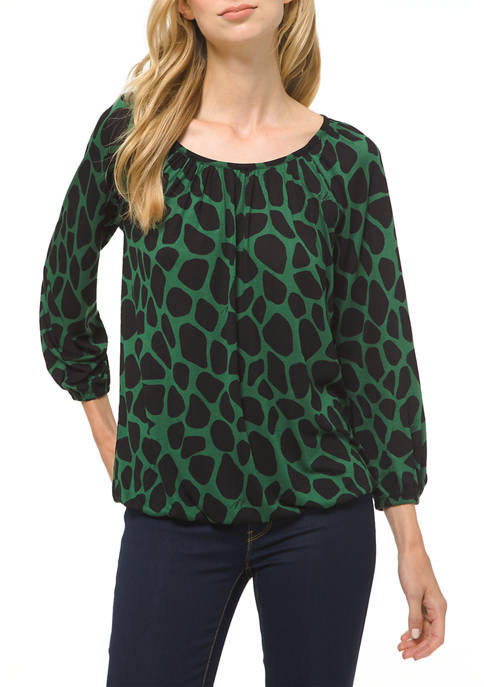 Womens Jersey Peasant Top
