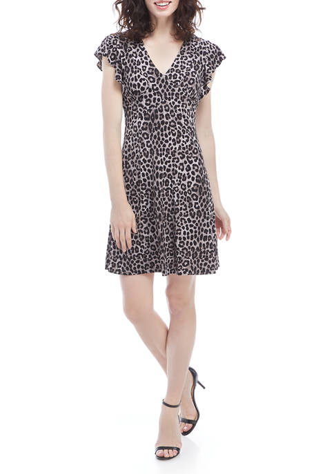 MICHAEL Michael Kors Womens Cheetah Seam Dress