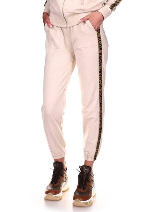 MICHAEL Michael Kors Womens Logo Tape Jogger Pants