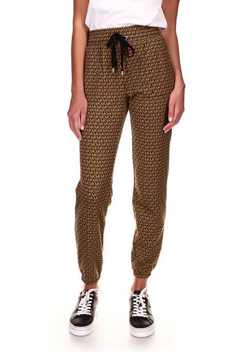 MICHAEL Michael Kors Womens Logo Printed Jogger Pants