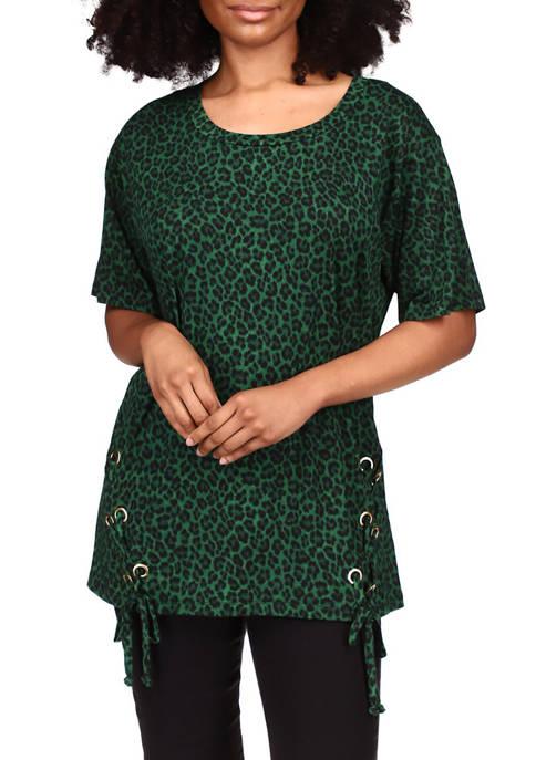 MICHAEL Michael Kors Womens Drop Shoulder Cheetah Print