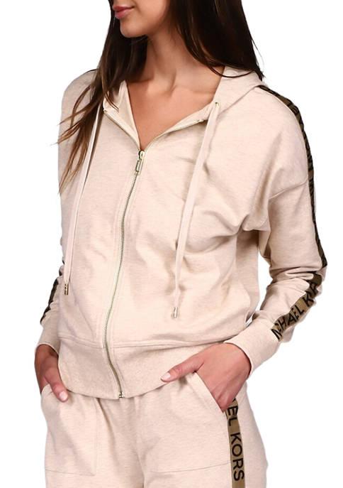 MICHAEL Michael Kors Womens Long Sleeve Zip Front