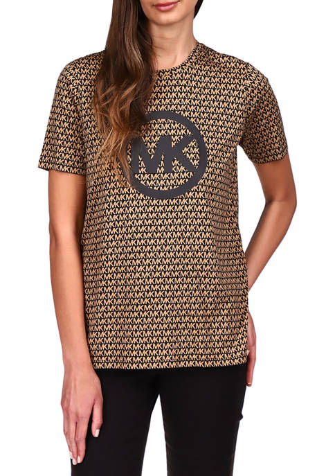 MICHAEL Michael Kors Womens Short Sleeve Logo Graphic