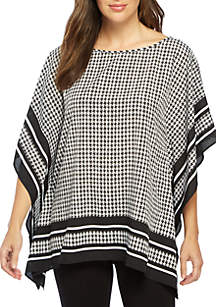 Houndstooth Twill Top