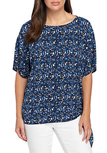 Graphic Paisley Top