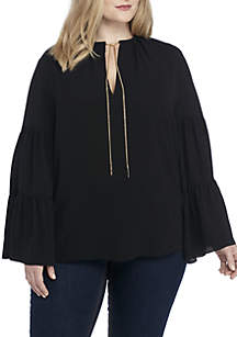 Long Tiered Bell Sleeve Top
