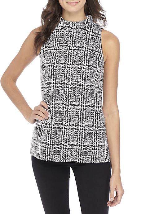 MICHAEL Michael Kors Plaid Split Hem Tunic