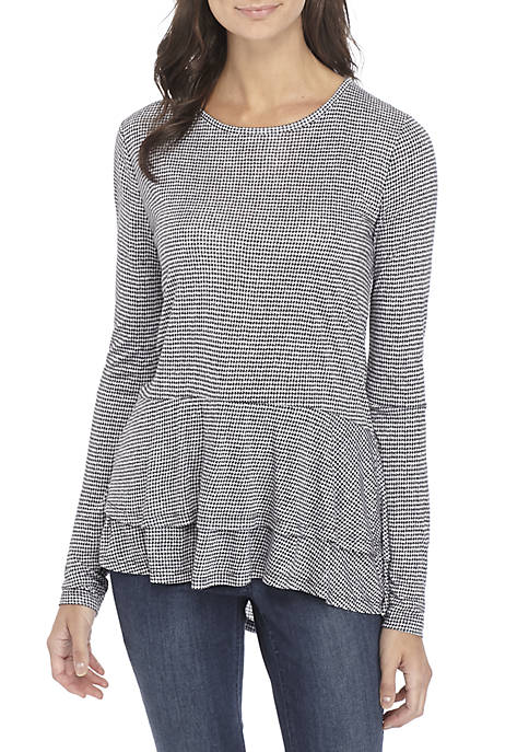 MICHAEL Michael Kors Mini Tweed Double Hem Top