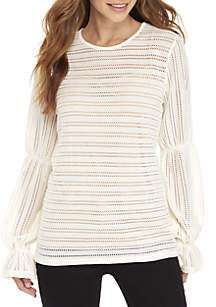 Long Sleeve Cinched Top