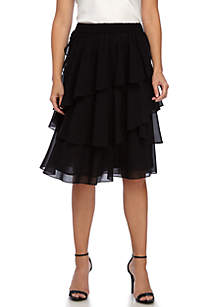 Multi Flounce Skirt