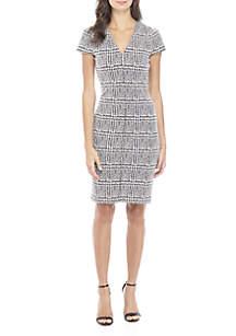Mini Check Bodycon Dress