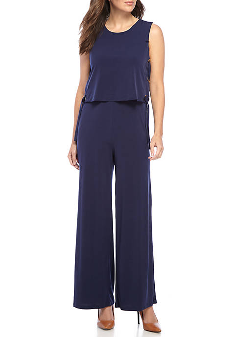 MICHAEL Michael Kors Lace Up Side Jumpsuit