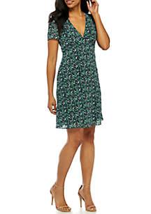 Paisley V-Neck Dress