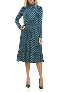 Foulard Smock Neck Dress