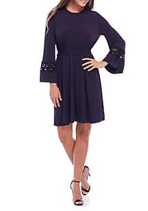 Lace Sleeve Cuff Dress