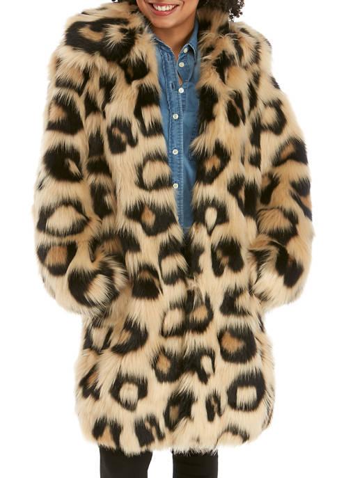 MICHAEL Michael Kors Womens Mega Cat Faux Fur