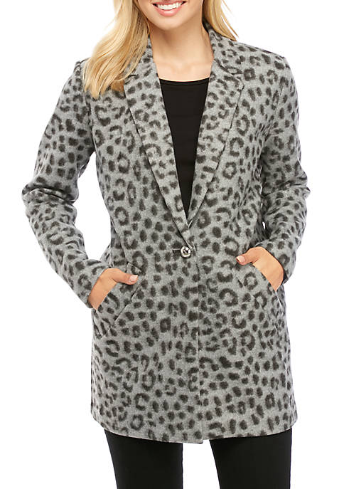 Brushed Cheetah Blazer