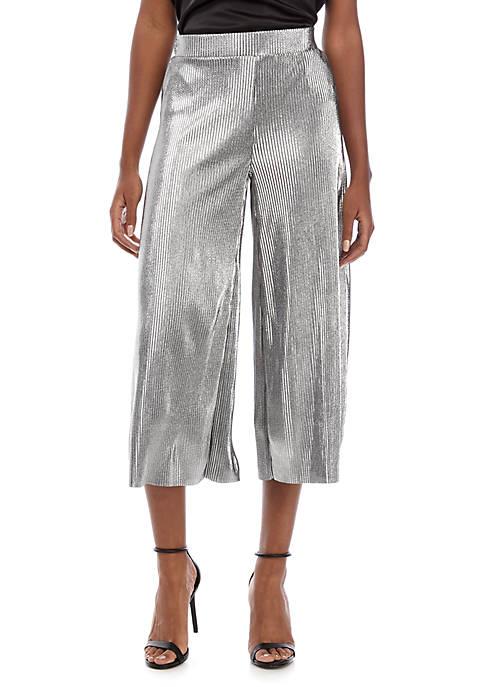 Pleated Metallic Soft Pants