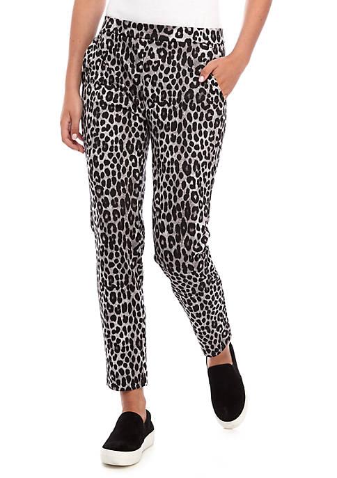 Womens Cheetah Ponte Pants