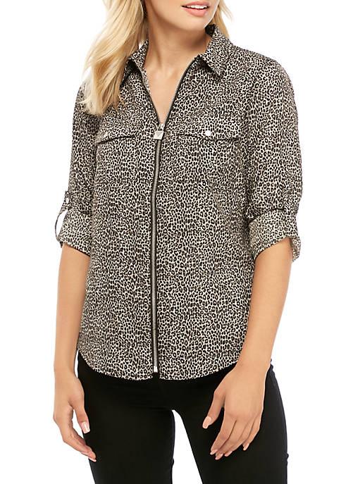 MICHAEL Michael Kors Mini Cheetah Dog Tag Shirt