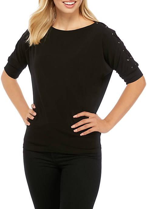 MICHAEL Michael Kors Dolman Grommet Sleeve Knit Top