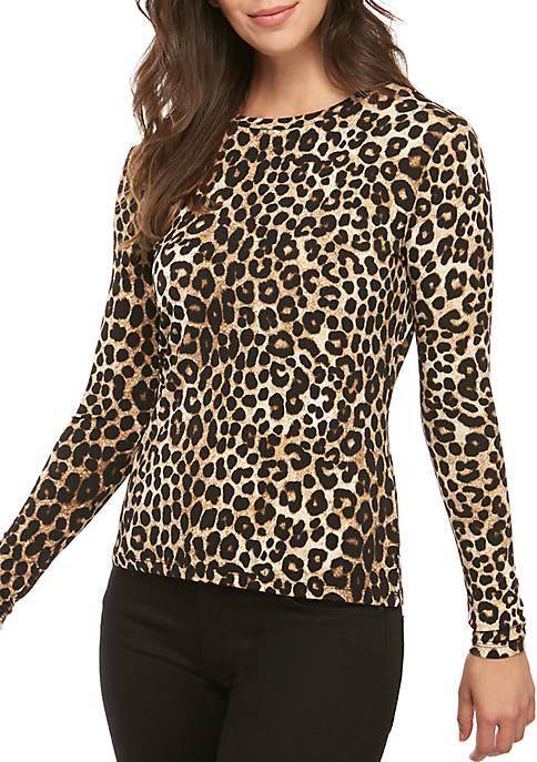 MICHAEL Michael Kors Long Sleeve Cheetah T-Shirt