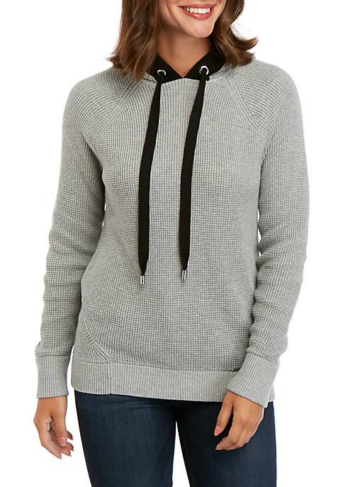 MICHAEL Michael Kors Waffle Knit Hoodie