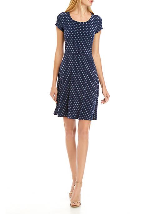MICHAEL Michael Kors Modern Dot Cap Sleeve Dress