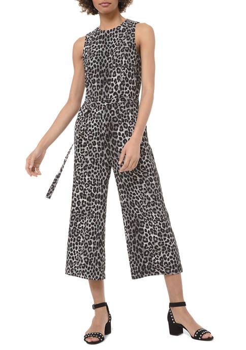 MICHAEL Michael Kors Womens Cheetah Jumpsuit