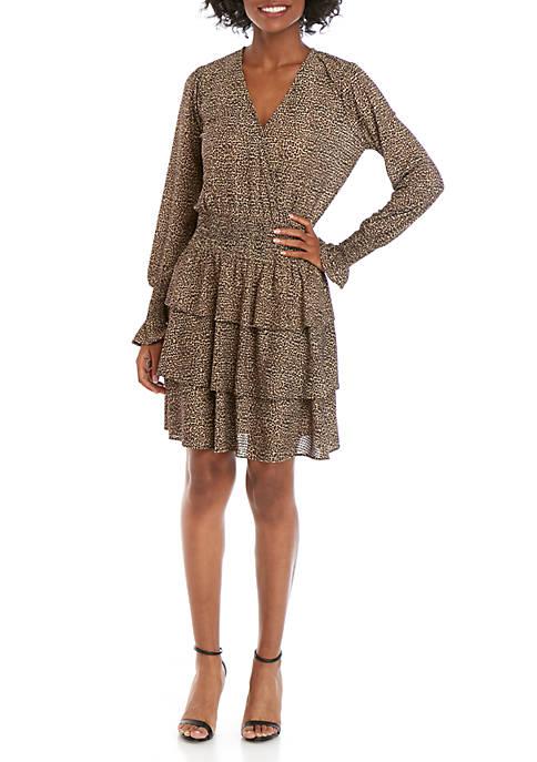 MICHAEL Michael Kors Mini Cheetah Ruffle Dress