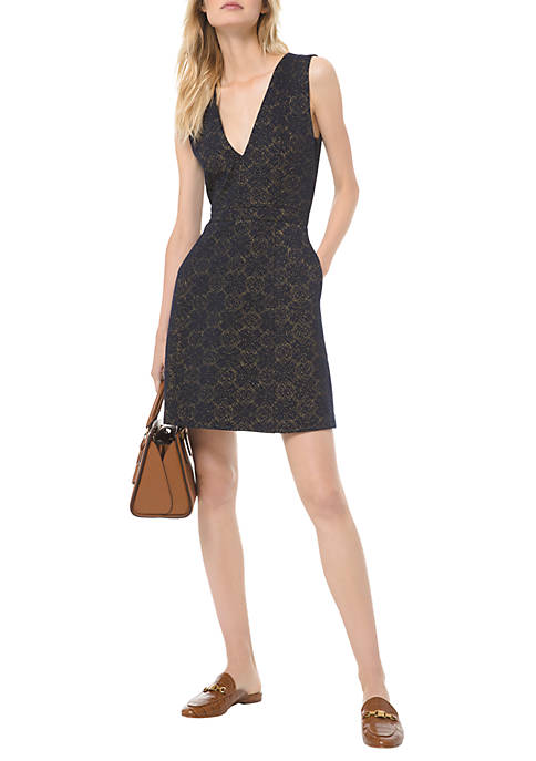 MICHAEL Michael Kors LUREX® Jacquard Fit and Flare