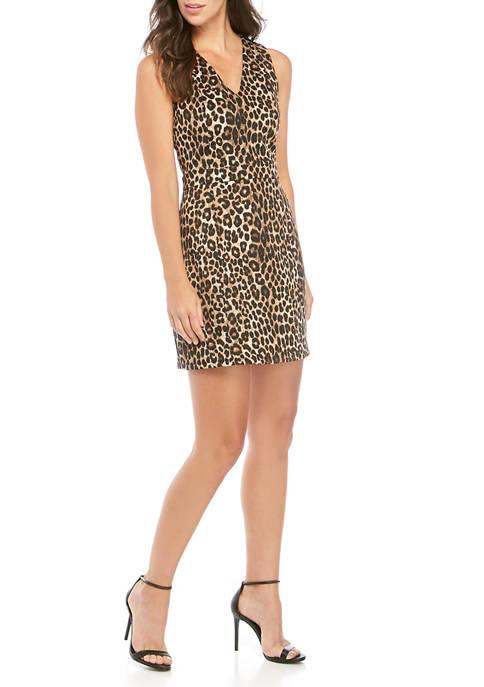 MICHAEL Michael Kors Womens Cheetah Scuba Dress