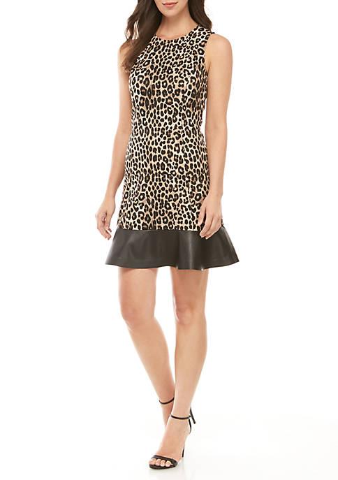 MICHAEL Michael Kors Cheetah Fit And Flare Dress
