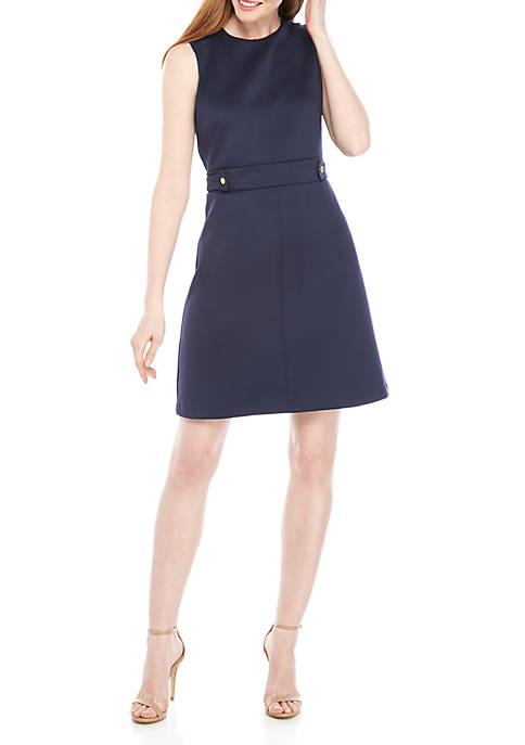 MICHAEL Michael Kors Solid Scuba Hardware Sheath Dress