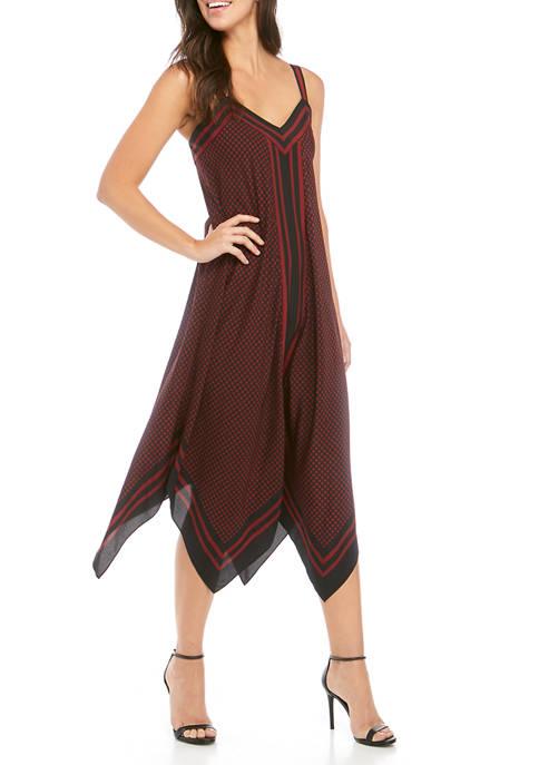 MICHAEL Michael Kors Womens Dot Border Handkerchief Dress
