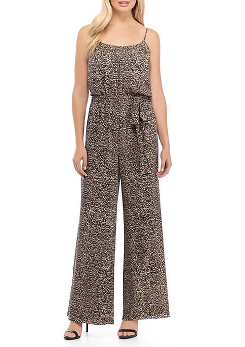 Mini Cheetah Print Cami Jumpsuit