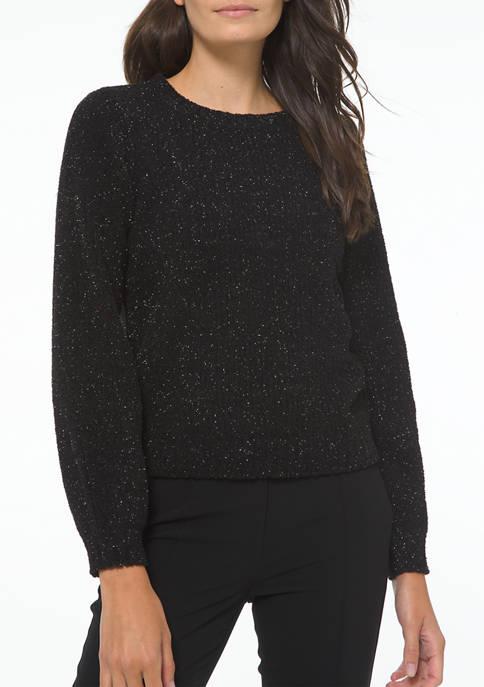 MICHAEL Michael Kors Womens Crew Neck Lurex® Textured