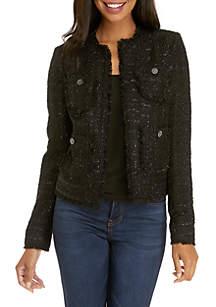 Tweed Frayed Jacket