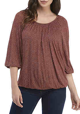 9f574a22be87a MICHAEL Michael Kors Wild Fern Knit Peasant Top ...