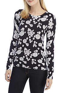 Toss Lace Crew Neck Sweater
