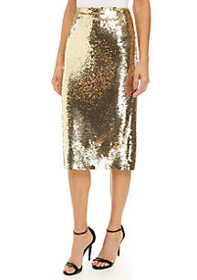 Fitted Sequin Skirt