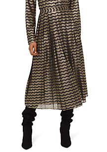 Swing Stripe Pleated Skirt